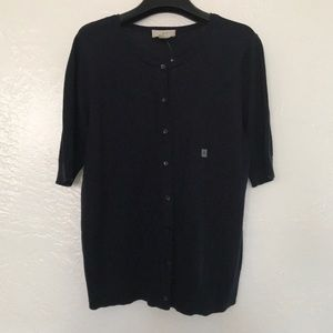 NWT Loft Outlet Button Down Navy Cardigan